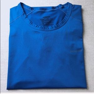 PATAGONIA Men's Blue Capilene Short Sleeve Shirt